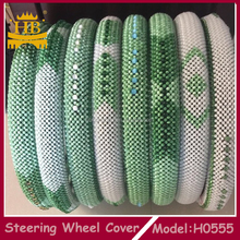 Hot selling fashion bead car accessories for car steering wheel cover for girl