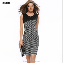 2017 New cheap clothing Fashion Dresses For Women Striped Summer Dress Sexy Plus Size Stretch Bodycon Casual Dresses