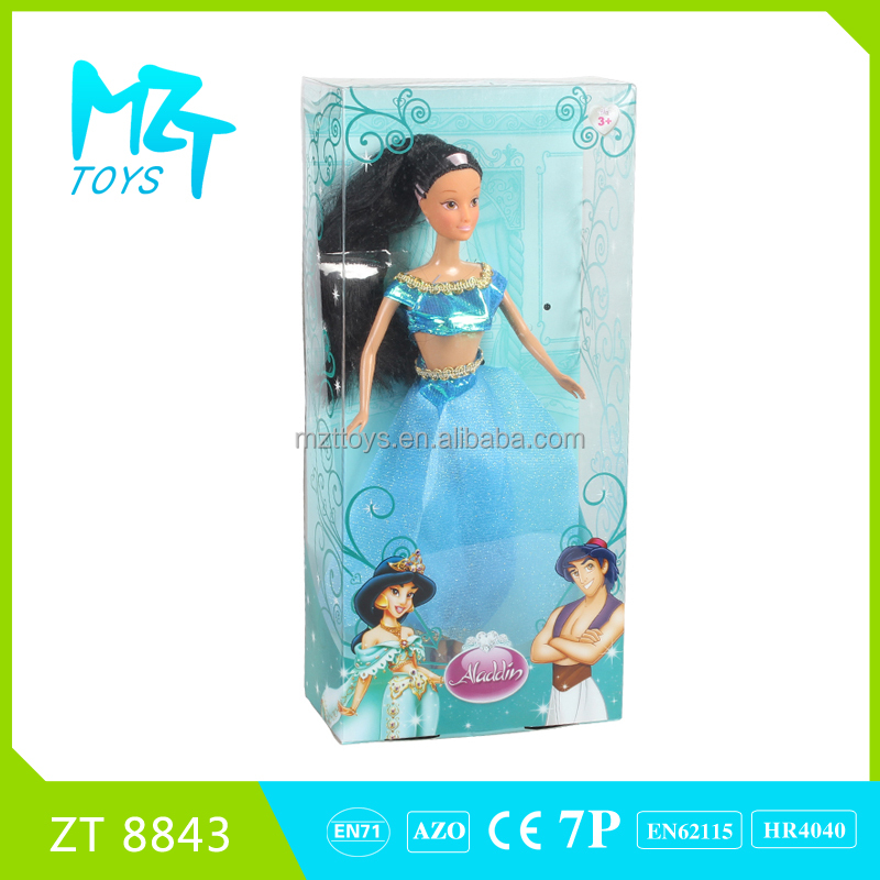 2016 New !Eco-friendly PVC Movable Joints princess and prince and spirit Barbie Doll (3 model mixed)