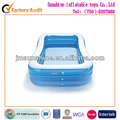 Family Pack blue transparent plastic inflatable swimming pool/ pool /inflatable pool / swimming pool