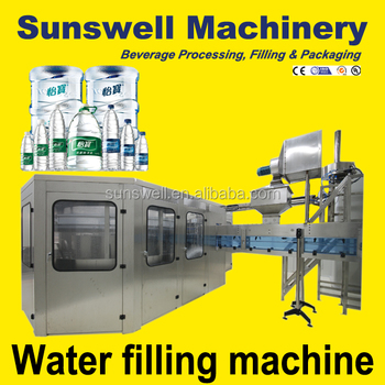 Automatic Drinking Bottled Mineral Water Filling Machine