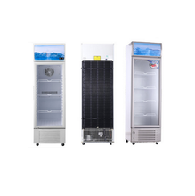 205L R134a Fan Cooling Single Glass Door With Shelf Beverage Showcase Upright Display Swing Door Cooler