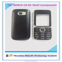 Black Full Housing Cover + Keypad for Nokia C2-01 C2 Mobile Phone Repair Parts