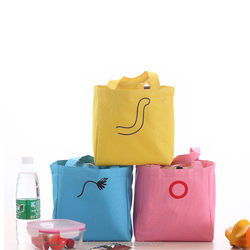 Thermal portable Insulated cooler lunch dinner bag for travel picnic food Drinks custom ziplock food bagfood bag tote cooler bag