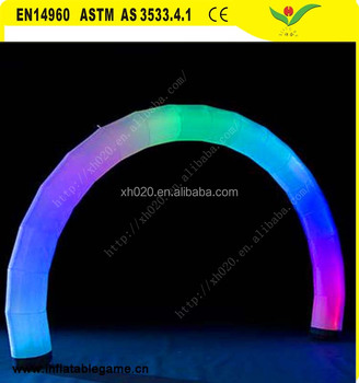 New Commercial inflatable led light arch for party