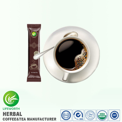 Lifeworth free private label design organic instant latte green coffee with factory price