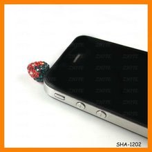 Headphone jack strawberry dustproof plug wholesale SHA-1202
