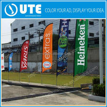 small promotional polyester printed all countries cheap feather flags