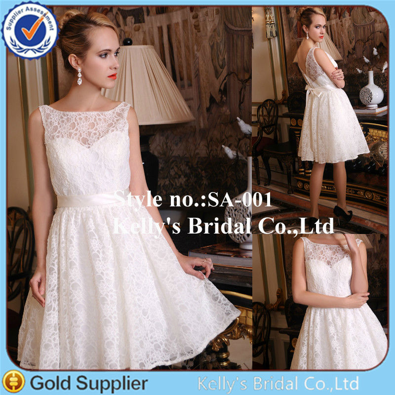 Beautiful Princess latest western design sexy short mini white wedding dress