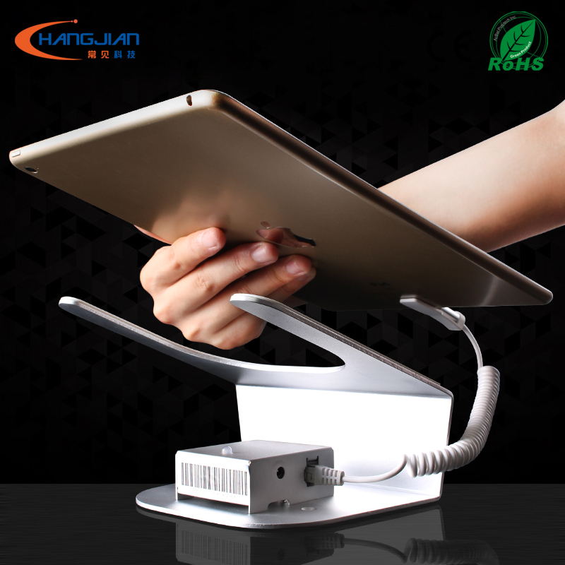 High efficiency and low energy tablet alarm and charging display stand anti theft device