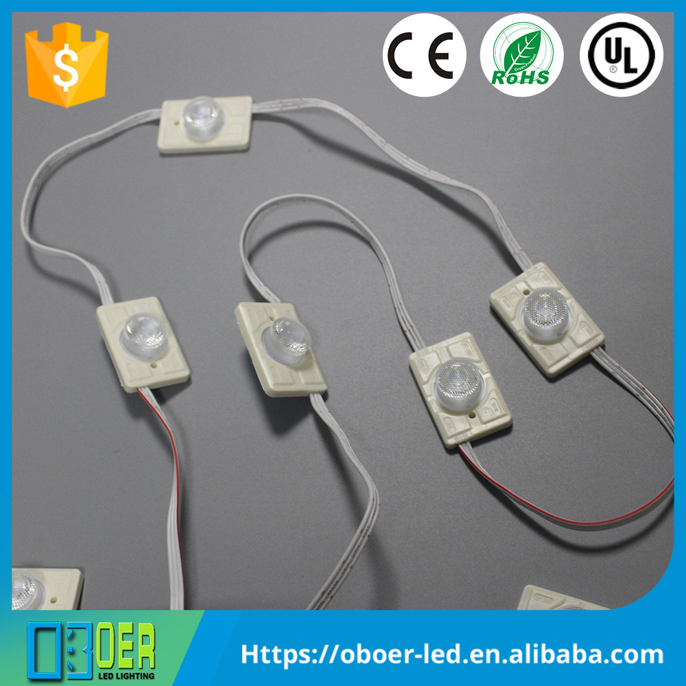 High power 3W advertising waterproof led edge lit ABS injection module for light box