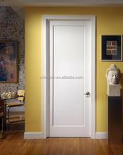 White color single panel MDF wooden door simple design