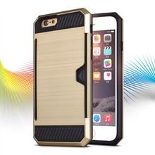 2016 Newest Brushed Card Slot Case For Iphone5