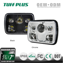 "profession DOT Approve 5x7"" Square Led Head Light for trucks mining off-road"