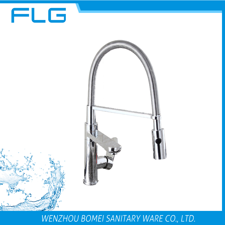 FLG supplier Pull-down Led Sprayer Kitchen Faucet Mixer Tap