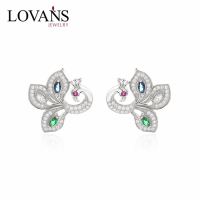 New Design 925 Sterling Silver Peacock Earring Factory Earring SEG397W