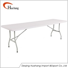 8FT Durable Using Low Price Hard Hotel Plastic Hdpe Folding Table Square In Half