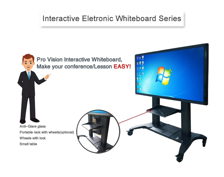 "65"" OPS PC Multi Touch digital smart board Samsung Interactive Display for classroom"