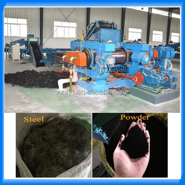 Old tyre recycling rubber powder solutions / waste tire recycling machine