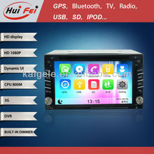 "6.2"" 2 Din Universal car stereo with BT GPS 3G HD1080P"