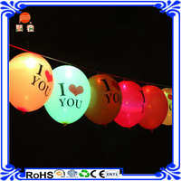 Factory wholesale 12'' Flashing Led glowing balloon led flashlight balloon