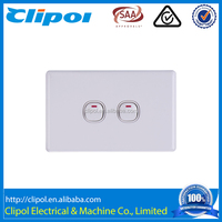 Clipol 250V 16A DS603 double gang electrical wall switch for home