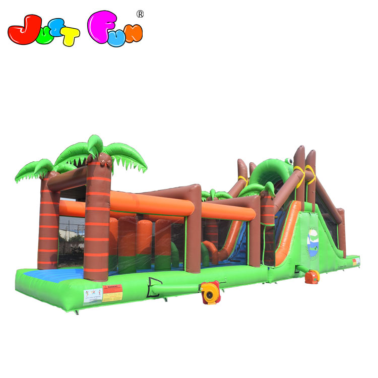Big crocodile theme inflatable obstacle course slides with obstacle for adults and kids cheap price