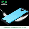 Anti-throw shockproof combo heat dissipation aluminium brushed metal bumper back cover for samsung galaxy alpha phone case