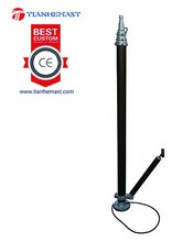 hand pump vehicle mounted Telescopic led light Mast pneumatic portable antenna pole