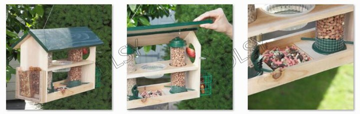 Outdoor Large Hanging Bird Feeder , Multifunction Bird Feeder Station