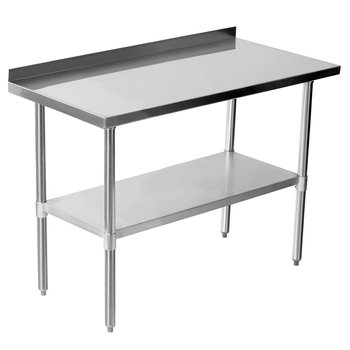 OWNFIT Worktable Commerical Work Bench With Backplash Stainless Steel Table