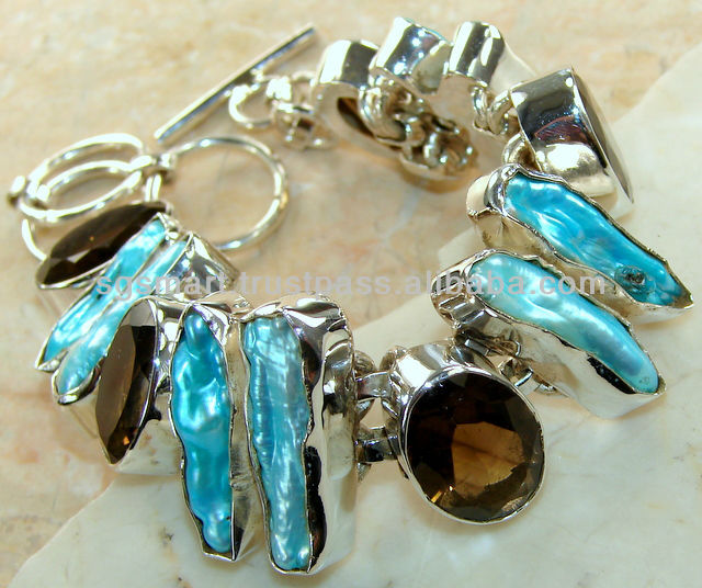 Silver Bracelet Stone Wholesale Jewelry Factory in Thailand.