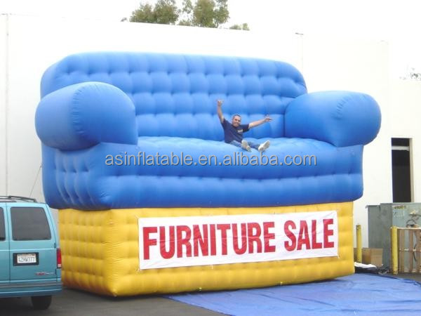 2016 hot sale giant advertising inflatable sofa