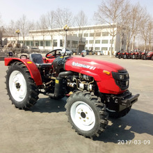 Luzhong 404 4WD 40hp cheap wheeled garden tractor with front end loader and backhoe