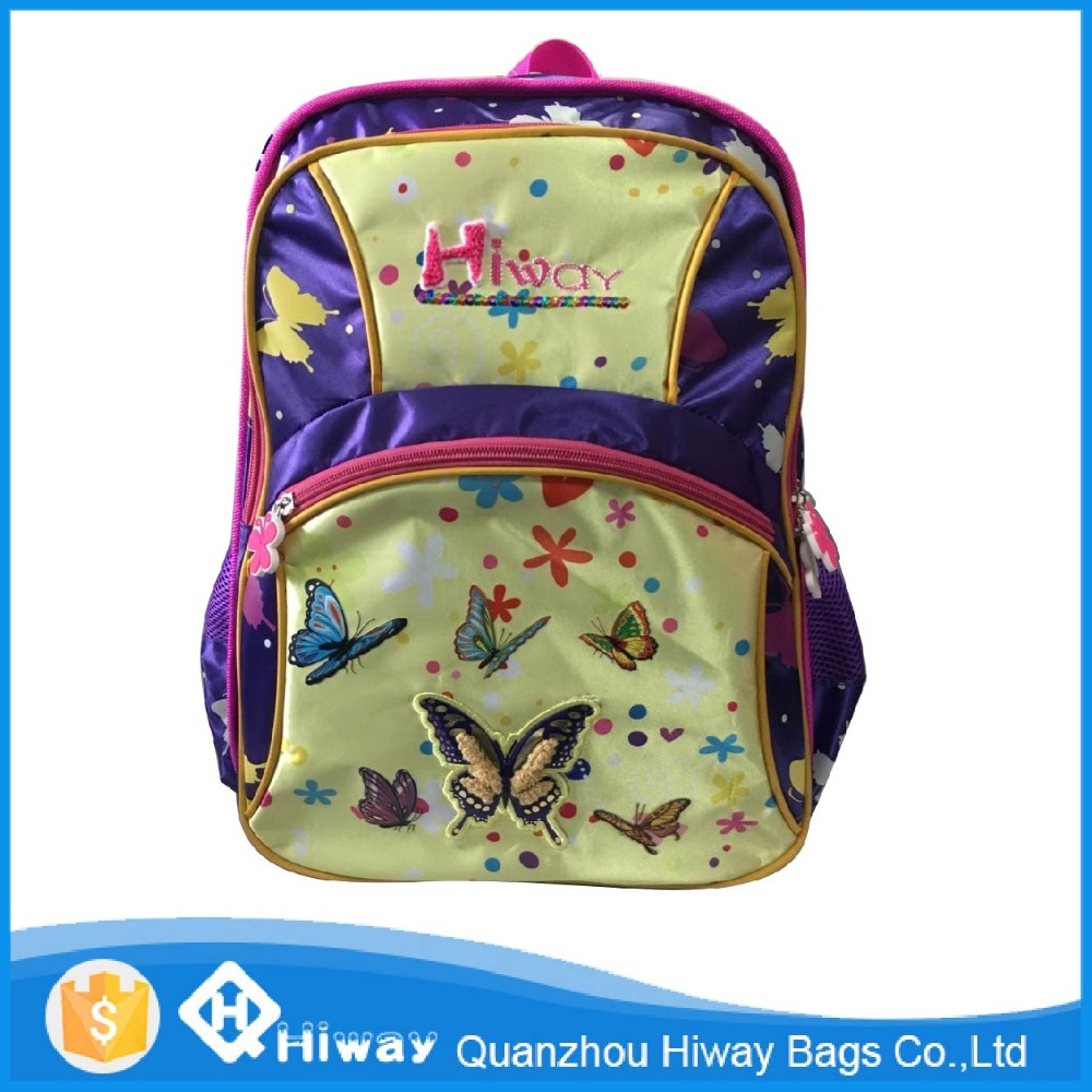 Hot new products for 2016 fashion teenage girl school backpack bags