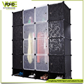 AL0960-16 plastic foldable wardrobe with shoe cabinets