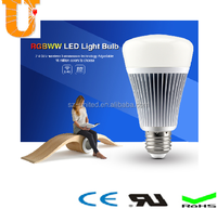 New 2.4G RGBW/WW smart led light bulb