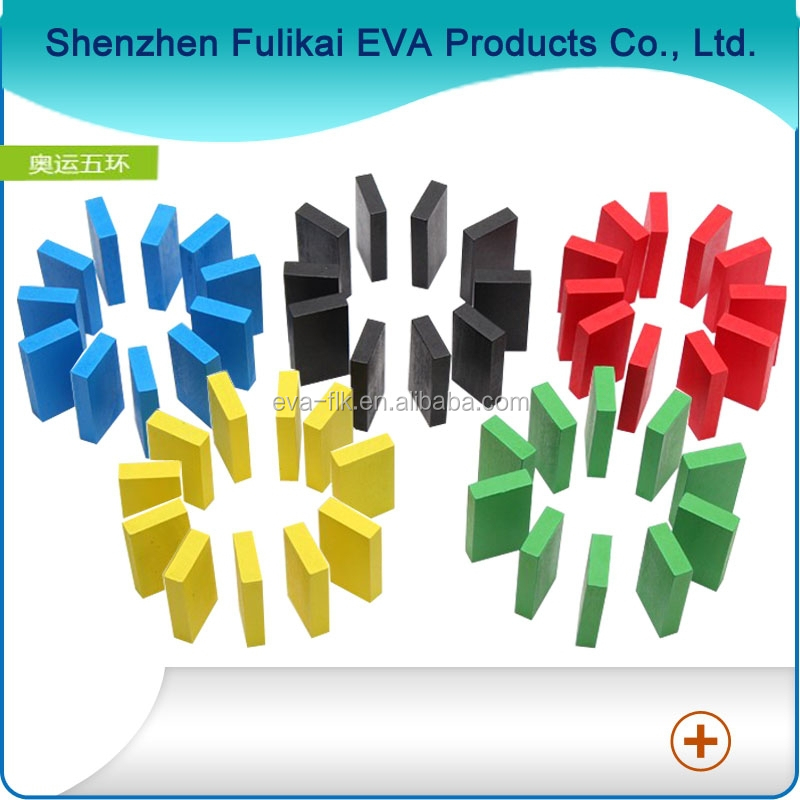 Colored Funny EVA Puzzle Dominoes