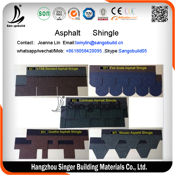 asphalt shingle guangzhou/Sri lanka asphalt shingle/Japanese asphalt shingles roof tiles for sale