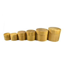 cosmetic container bamboo jar with lid 5g 10g 15g 20g 30g 50g 100g 150g wooden jar with wooden lid