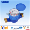 Brass Single Jet Water Meter , Super Dry Cold Water Meter DN15mm
