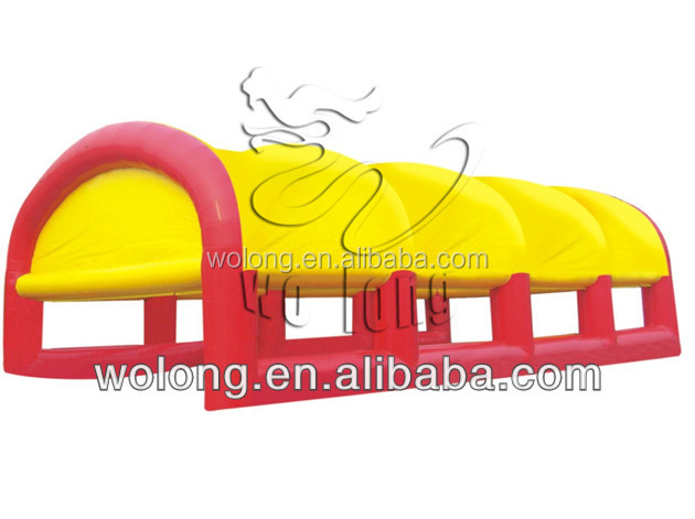 yellow promotional infltable tent for sale, camping inflatable tent