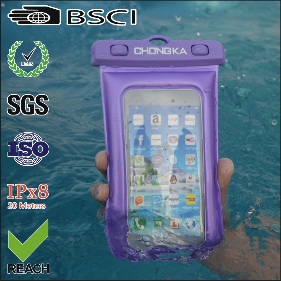 waterproof case/bag/pouch for iphone 5 with ipx8