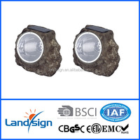 4* super bright led rock solar garden light