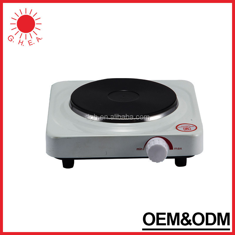 CE Certificate solid single burner 1000w electric hot plate