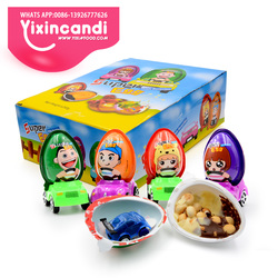 Kinder super plastic surprise toy egg with running car chocolate biscuit