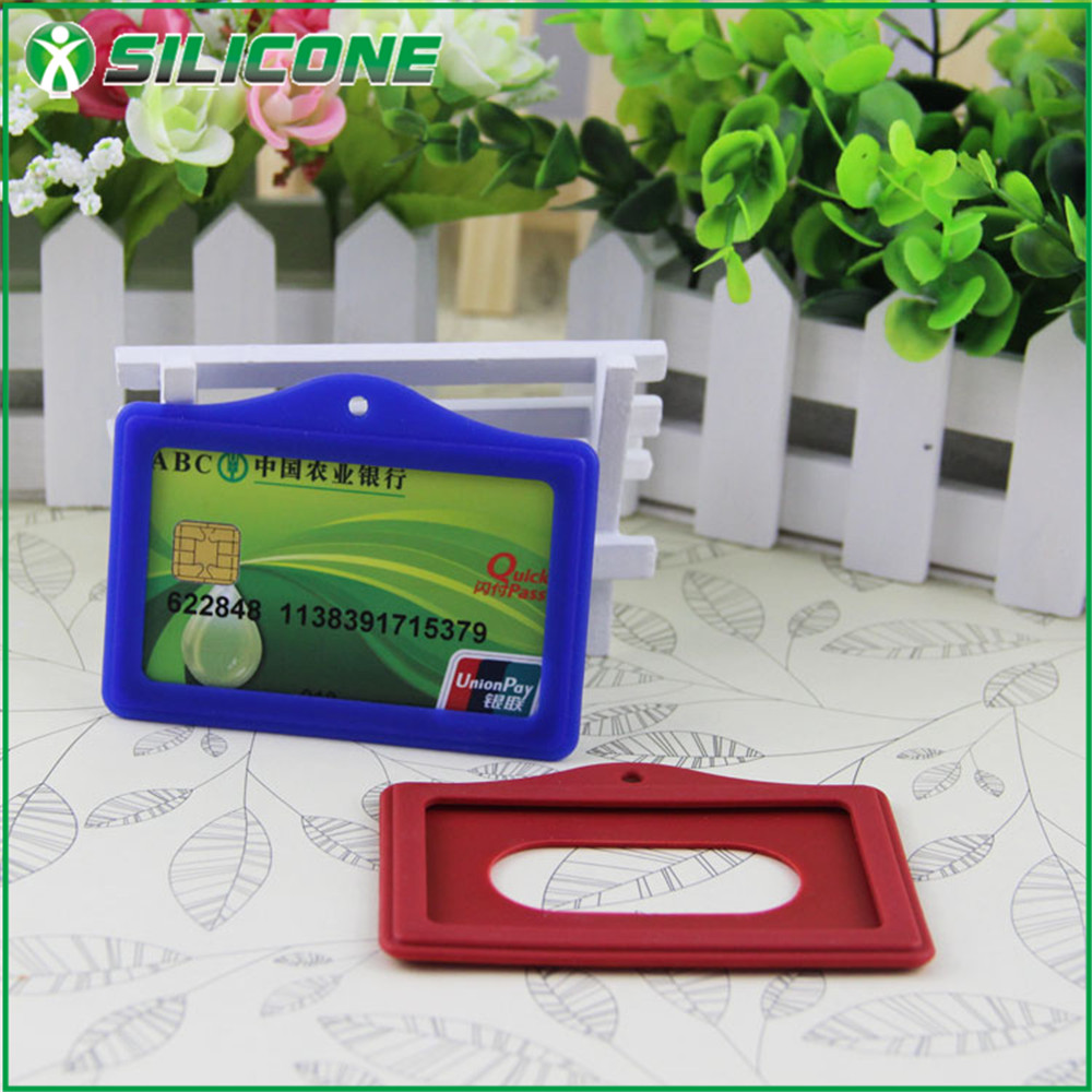 2016 China factory silicone cheap OEM hotel key card holder printing