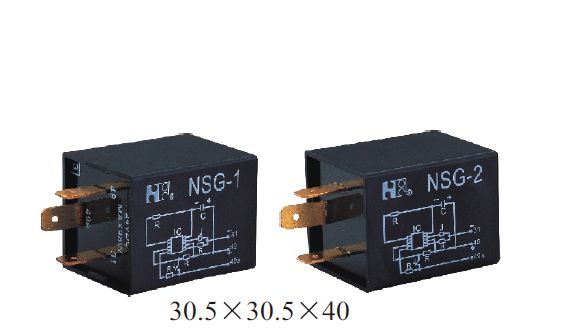 12VDC automotive flasher relays with 125 upper limit temperature for the coil