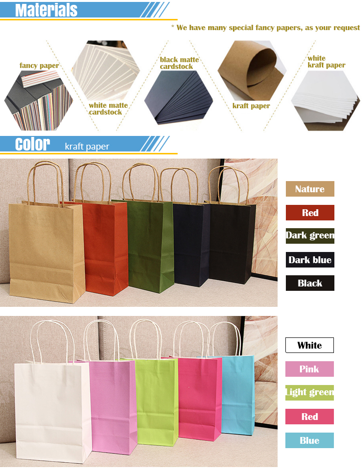 China factory hot sale gift/shopping white/black matter paper bags with own logo