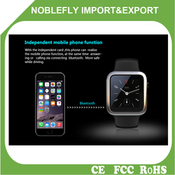 Shenzhen MTK2502C Android IOS Smart Watch Mobile Phones on promotion